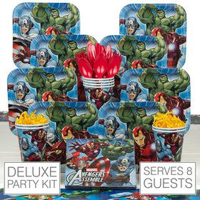 Avengers Birthday Party Deluxe Tableware Kit Serves 8