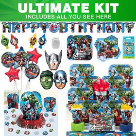 Avengers Birthday Party Ultimate Tableware Kit Serves 8