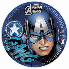 "Avengers Captain America 9"" Lunch Plates (8 Count)"