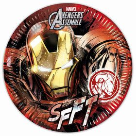 "Avengers Iron Man 9"" Lunch Plates (8 Count)"