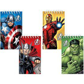 Avengers Notepad Favors (12 Pack)
