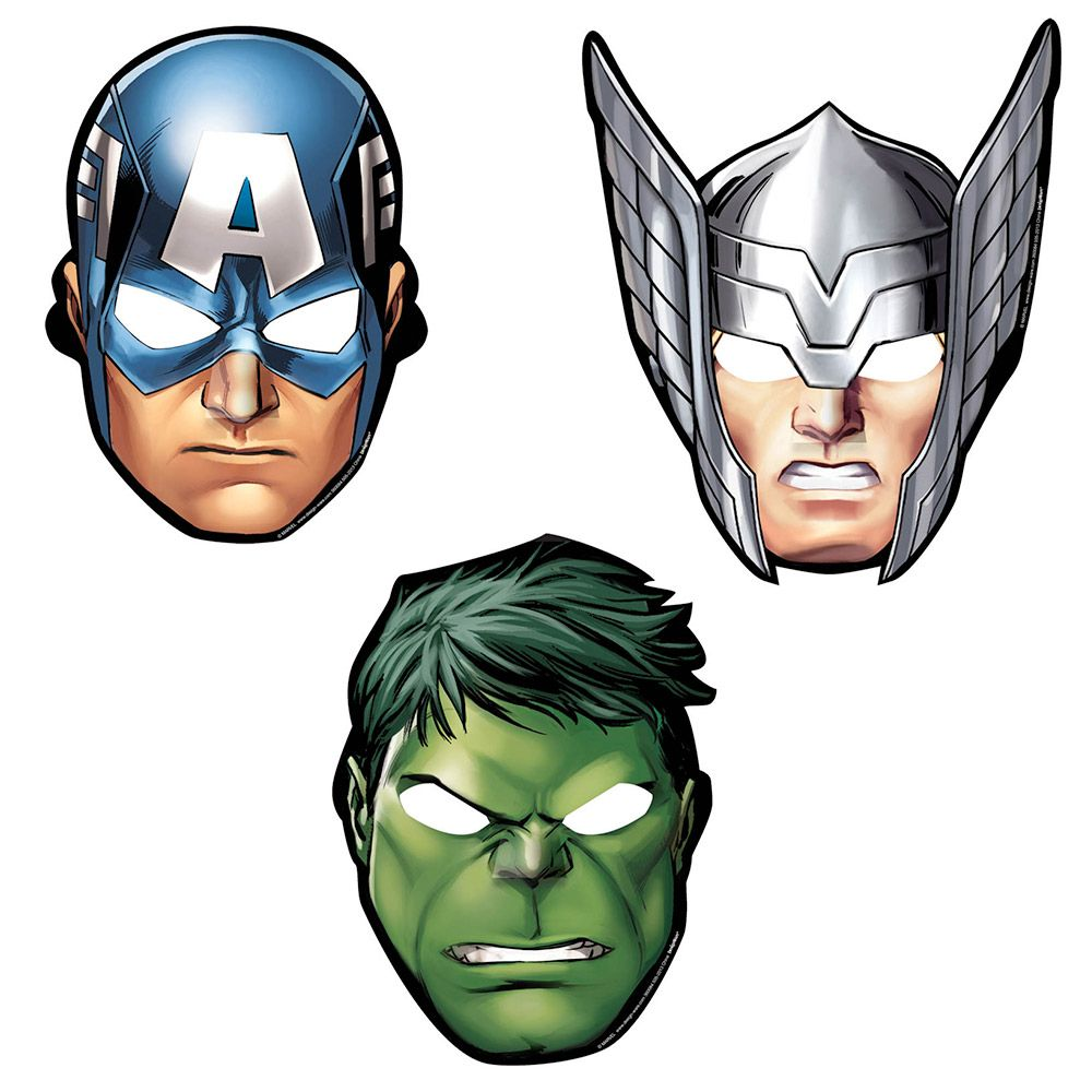 Avengers Paper Masks (8 Pack) - Party Supplies BB360084