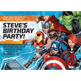 Avengers Personalized Invitation (Each)