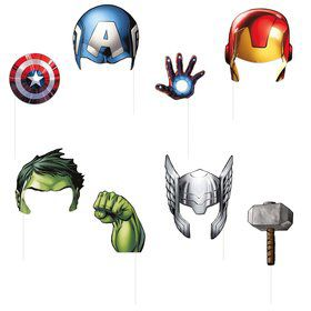 Avengers Photo Booth Props