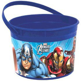 Avengers Plastic Favor Container (Each)