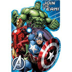 Avengers Postcard Invitations (8 Pack)