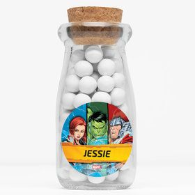 "Avengers Set 2 Personalized 4"" Glass Milk Jars (12 Count)"