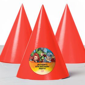 Avengers Set 2 Personalized Party Hats (8 Count)