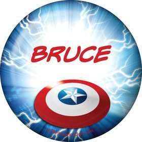 Avenging Heroes Personalized Button (Each)