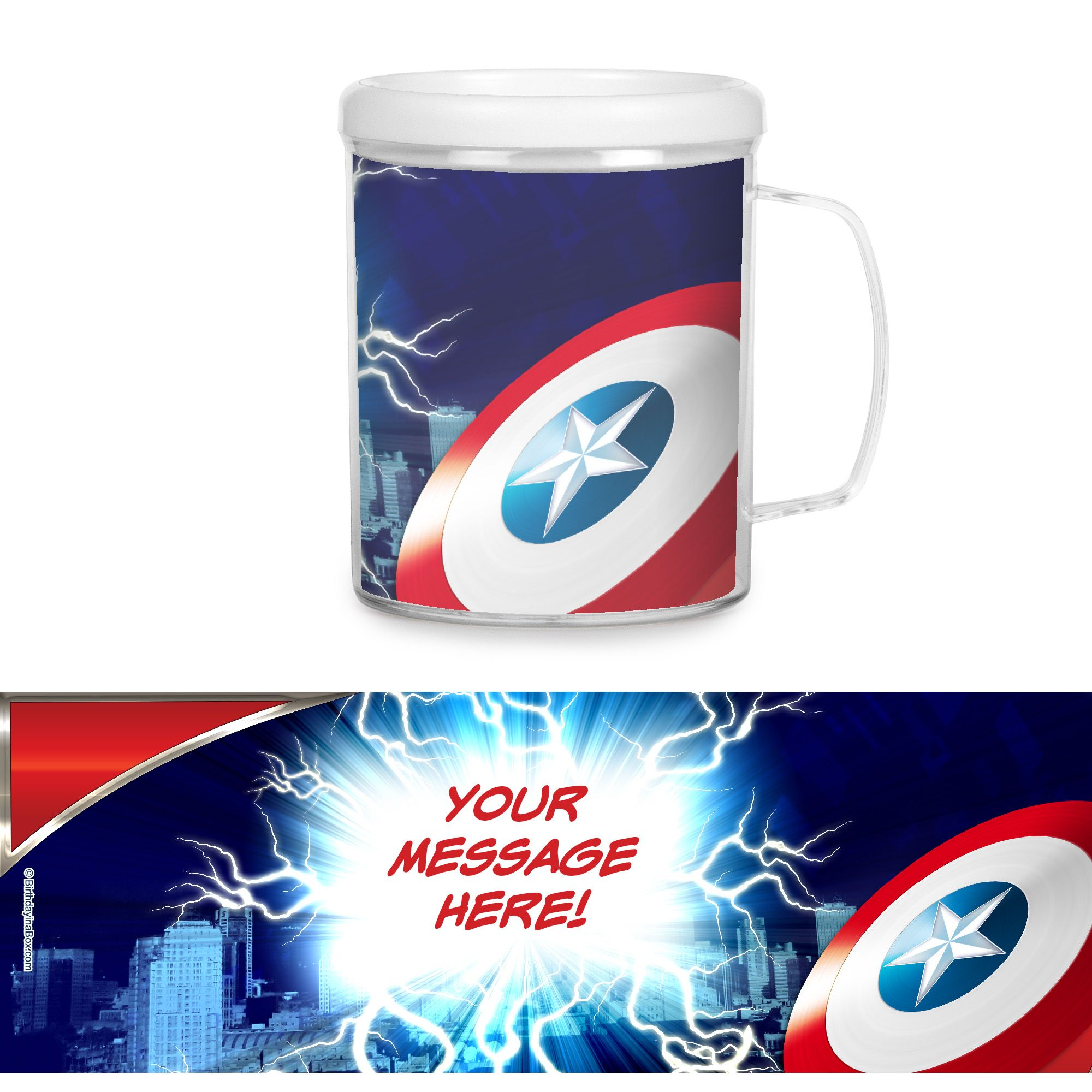 Avenging Heroes Personalized Favor Mugs (Each) - Party Supplies BB102735CUP