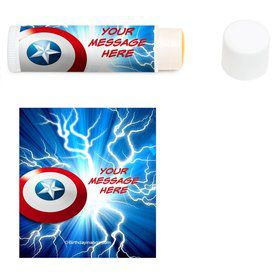 Avenging Heroes Personalized Lip Balm (12 Pack)