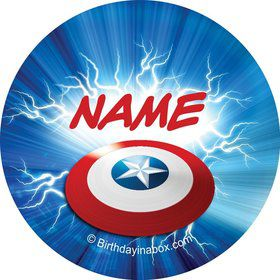 Avenging Heroes Personalized Mini Stickers (Sheet of 24)