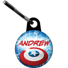 Avenging Heroes Personalized Mini Zipper Pull (Each)