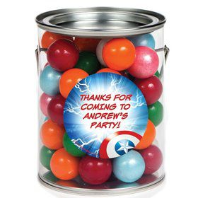 Avenging Heroes Personalized Paint Can Favor Container (6 Pack)