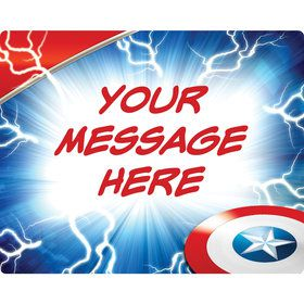Avenging Heroes Personalized Rectangular Stickers (Sheet of 15)