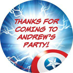 Avenging Heroes Personalized Stickers (Sheet of 12)