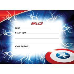 Avenging Heroes Personalized Thank You Note (Each)