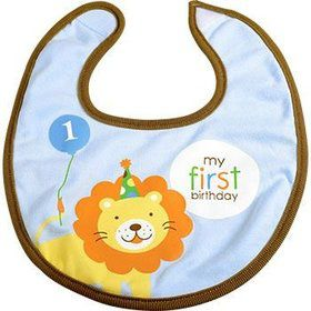 Baby Animals 1st Birthday Boy Bib (each)
