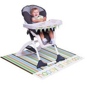 Baby Animals 1st Birthday Boy Highchair Kit (each)