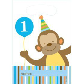 Baby Animals 1st Birthday Boy Loot Bags (8-pack)