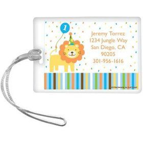 Baby Animals 1st Birthday Boy Personalized Luggage Tag (each)
