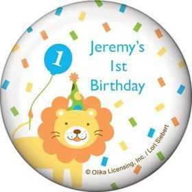 Baby Animals 1st Birthday Boy Personalized Magnet (each)