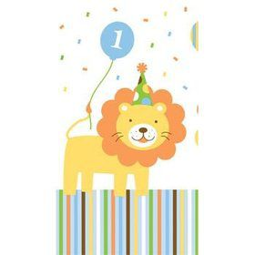 Baby Animals 1st Birthday Boy Table Cover (each)