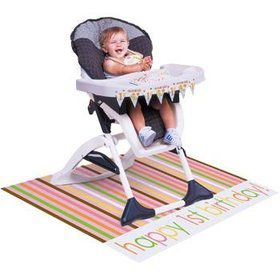 Baby Animals 1st Birthday Girl Highchair Kit (each)