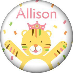 Baby Animals 1st Birthday Girl Personalized Mini Magnet (Each)
