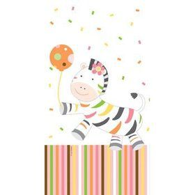 Baby Animals 1st Birthday Girl Table Cover (each)