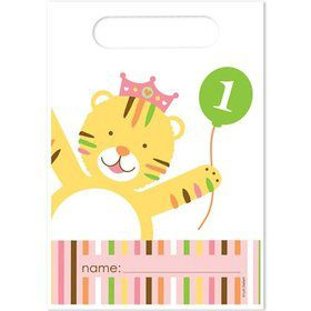 Baby Animals 1st Birthday Loot Bags (8-pack)