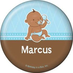 Baby Boy - African American Personalized Button (each)