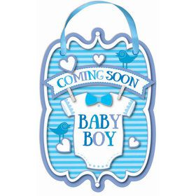 Baby Boy Coming Soon Sign