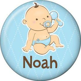 Baby Boy Personalized Mini Button (each)