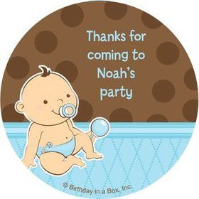 Baby Boy Personalized Stickers (sheet of 12)