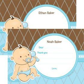 Baby Boy Personalized Thank You Note (each)