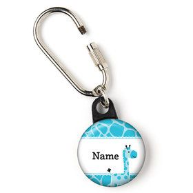 "Baby Boy Safari Personalized 1"" Carabiner (Each)"