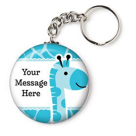 "Baby Boy Safari Personalized 2.25"" Key Chain (Each)"