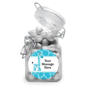 Baby Boy Safari Personalized Glass Apothecary Jars (10 Count)