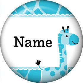 Baby Boy Safari Personalized Mini Magnet (Each)