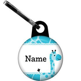 Baby Boy Safari Personalized Zipper Pull (Each)