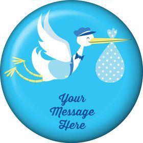 Baby Boy Stork Personalized Magnet (Each)