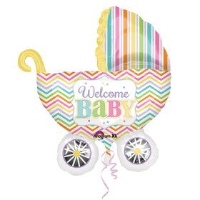 Baby Brights Carriage Balloon (Each)