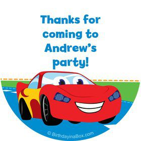 Baby Cars Too Personalized Stickers (Sheet of 12)