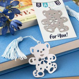 Baby Bear Bookmark with Blue Tassel (Each)