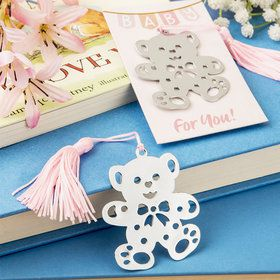 Baby Bear Bookmark with Pink Tassel (Each)