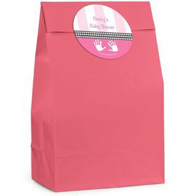 Baby Feet Pink Personalized Favor Bag (Set Of 12)