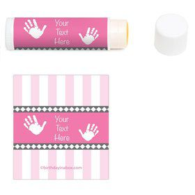 Baby Feet Pink Personalized Lip Balm (12 Pack)