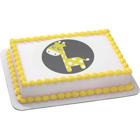 Baby Giraffe Quarter Sheet Edible Cake Topper (Each)