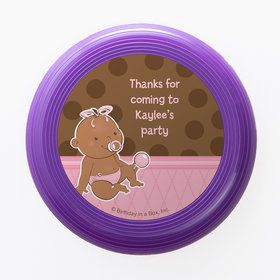 Baby Girl - African American Personalized Mini Discs (Set of 12)
